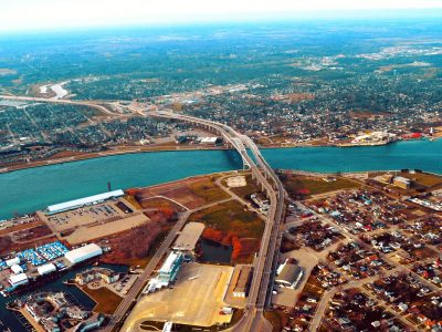 Photo of Sarnia from above