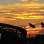 Bluewater Bridges sunset