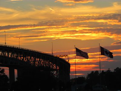 Bluewater Bridges sunset